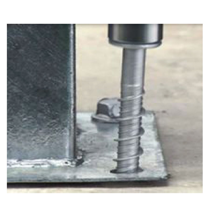 Typical screw anchor concrete application